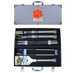 Clemson Tigers NCAA 8pc BBQ Tools Set