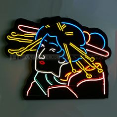 "neon sign-Geisha 53"" x 45"""