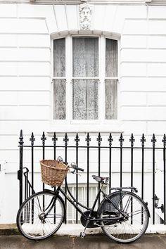 London Photographie - Fahrrad in Chelsea, England Reisen Fine Art Fotografie, schwarz-weiß-Wohnkultur, große Wandkunst