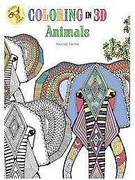 Coloring in 3d Animals Adult Coloring Book (Paperback)