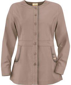 PC86C Butter-Soft Scrubs by UA™ Ladies' Button Front Warm-Up Scrub Jacket http://www.uniformadvantage.com/pages/prod/button-scrub-jacket.asp?frmColor=COUGA