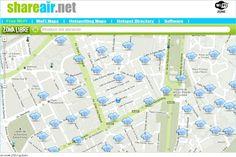 Shareair, un mashup de Google Maps para descubrir lugares con WiFi libre en las proximidades