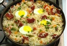 [New] The 10 Best Food Ideas Today (with Pictures) Rice Recipes, Cooking Recipes, Healthy Recipes, Brazillian Food, Brazilian Dishes, Good Food, Yummy Food, Portuguese Recipes, Pasta