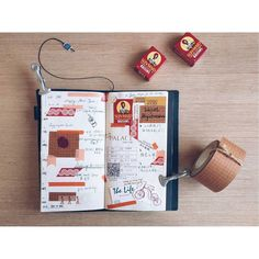 """Say hi to the new year. Say goodbye to the holiday.  假期最後一周了 明天要回香港了 還是捨不得的  #travelersnotebook #tn #midori #midoritravelersnotebook #keepanotebook #kn…"""
