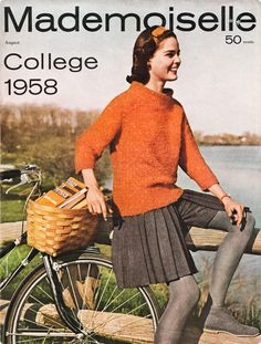 Would love to take a look through this! Vintage Bicycle Style: Mademoiselle, August 1958