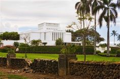 Laie Hawaii Temple. The Church of Jesus Christ of Latter-day Saints (LDS, Mormon). 005. Dedicated November 27, 1919. Rededicated June 13, 1978. Rededicated November 21, 2010. Robert A Boyd Fine Art.