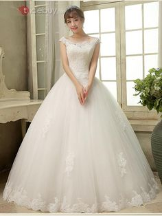 New Lace white/Ivory wedding dress Bridal gown custom size 4 6 8 10 12 14 16 18 Fluffy Wedding Dress, Ivory Lace Wedding Dress, Modest Wedding Dresses, Wedding Dress Styles, Bridal Dresses, Wedding Gowns, Fairytale Dress, Fairy Dress, Disney Princess Dresses