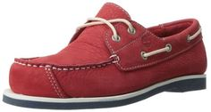 Timberland Peaks Island 2-Eye Boat Shoes - Red