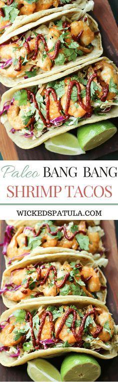 Paleo Bang Bang Shrimp Tacos   wickedspatula.com