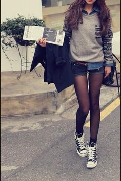 Ideas for moda hipster fall outfits converse Hipster Fashion, Teen Fashion, Korean Fashion, Fashion Outfits, Womens Fashion, Fashion Clothes, Spring Fashion, Style Fashion, College Fashion
