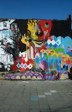 Street art | Mural detail (Largo da Batata, São Paulo, Brazil) by Ricardo AKN, Raul Zito, and Rodrigo Branco