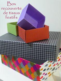 Recouvrir des boites avec du tissu Lien vers un tuto
