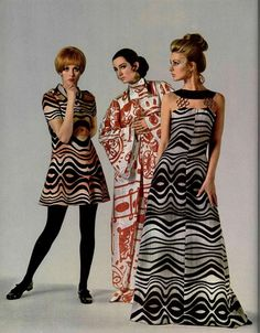 60s And 70s Fashion, Vintage Fashion, New Fashion Trends, Womens Fashion, 1960s Dresses, 20th Century Fashion, Mode Vintage, Cool Fabric, Couture