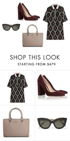 """""""Sin título #5554"""" by ceciliaamuedo ❤ liked on Polyvore featuring Giambattista Valli, Gianvito Rossi, Tory Burch and Victoria Beckham"""