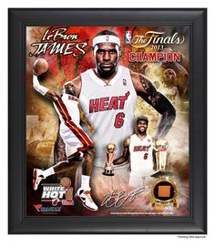 AAA Sports Memorabilia LLC - LeBron James Miami Heat 2013 NBA Champions Framed 15x17 Multi-Photo Collage with Game-Used Basketball Piece - L.E. of 500, $84.95 (http://www.aaasportsmemorabilia.com/nba/lebron-james-miami-heat-2013-nba-champions-framed-15x17-multi-photo-collage-with-game-used-basketball-piece-l-e-of-500/)