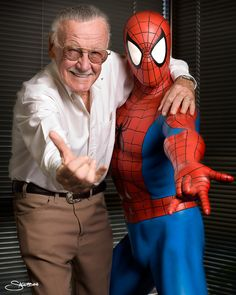 Stan Lee and Spiderman <3