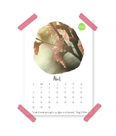 Imagen del calendario de abril de 2014 de Esturirafi.