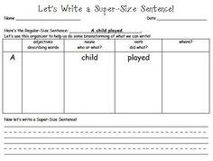 Writing a descriptive sentence