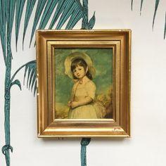 Vintage Framed Picture. Small Gold Frame. par LAtelierDeNanaH