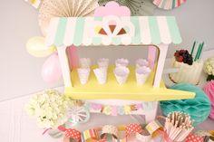 Ice Cream Cart Centerpiece