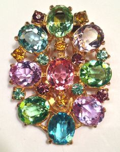 Vintage Brooch Sheila Troppe Costume Jewelry Brooches