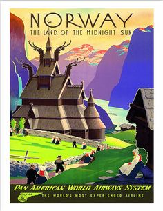 Norway The Land of the Midnight Sun Pan American by WallArty