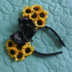 Sunflower Disney Ears by AndieeLand on Etsy