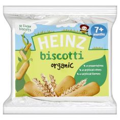 Heinz Organic 7 Plus Months Biscotti 12 Finger Biscuits 60 g (Pack of 12)