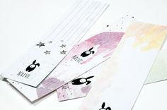 My watercolor bookmarks _ NAIVE.  http://instagram.com/naive_m