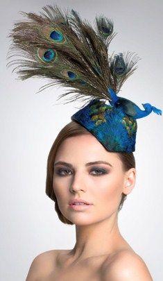 PEACOCK: Peacock Bird Headpiece