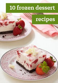 10 Frozen Dessert Recipes – Prepare a delicious homemade treat, or learn how to make creative ice cream recipes for a special occasion. These and other desserts, like our no-bake options, are sure to be a hit.