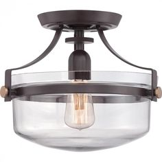 Uptown Penn Station Semi-Flush Mount : H4R9 | Lights Unlimited Inc.