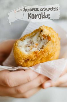 Be it a perfect meal or a snack for kids, Japanese potato croquettes (Korokke) make a terrific option for an easy authentic Japanese recipe. Japanese Potato, Japanese Dishes, Japanese Meals, Japanese Cake, Japanese Lunch, Easy Japanese Recipes, Asian Recipes, Potato Croquettes, Asian Desserts