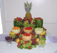 Resultado de imagen de fruit display for wedding