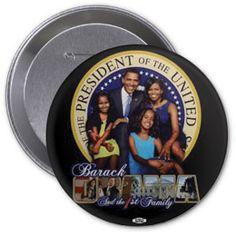 Obama Family Portrait Button