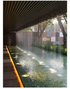 Atrium Design, Courtyard Design, Patio Design, Garden Design, House Design, Backyard Pool Designs, Swimming Pools Backyard, Landscape Architecture, Landscape Design