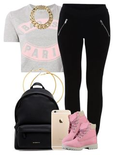 """Paris."" by livelifefreelyy ❤ liked on Polyvore featuring Être Cécile, VILA, H&M, Givenchy, Timberland and AllSaints"