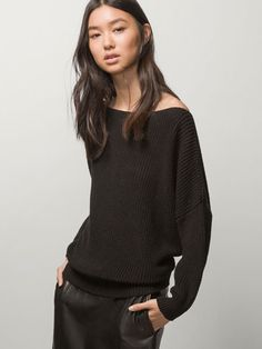 DROPPED SEAM KNIT SWEATER - Essential Knitwear - WOMEN - United States
