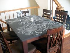 Chalkboard Table Top Maybe That S A Good Way To Refinish Our Tiny Old Dining