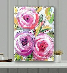 Flowers on canvas - the inspiration