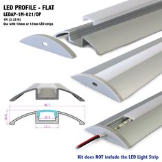 Rohs listed led strip lights stair nosing led aluminum profile view ledap 1m 021 length 1m 328 ft can be cut to your specs or joined together seamlessly for longer applications width 567mm 223 in height audiocablefo