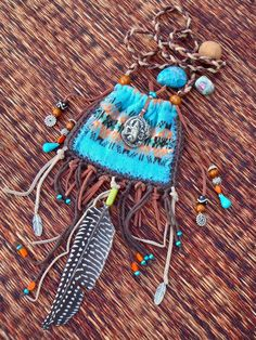 The medicine bags or pouches have had a long history in the healing arts. Slip in the gem stones, minerals or herbs that suit your unique constitution and