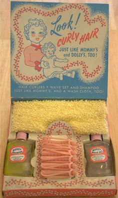 MERRY: 1950 My Merry Wash-N-Wave Set. I have some of the curlers from my sisters. 1950 was before my time.