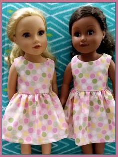 Pink Polka Dot Ruffle Dress for 18 Doll AG Doll Doll