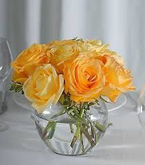 Image result for simple yellow rose cluster centerpiece