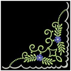 handkerchief corner