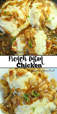French Onion Chicken - Anthony Messina - French Onion Chicken If you love the taste of French Onion Soup, you're going to go crazy over this French Onion Chicken. It's finger-licking good and soon to be a family favorite meal. French Onion Chicken, Cooking Recipes, Healthy Recipes, Delicious Recipes, Food Dishes, Main Dishes, Food Food, The Best, Dinner Recipes