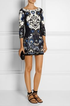 Needle & Thread. Sequined mini dress.