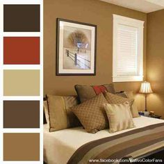 Rich, autumn colours make a room feel very sumptuous and welcoming . . .