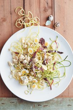 We love this baby marrow noodles, ostrich biltong and blue cheese salad with white port dressing! It is perfect for entertaining friends and family!